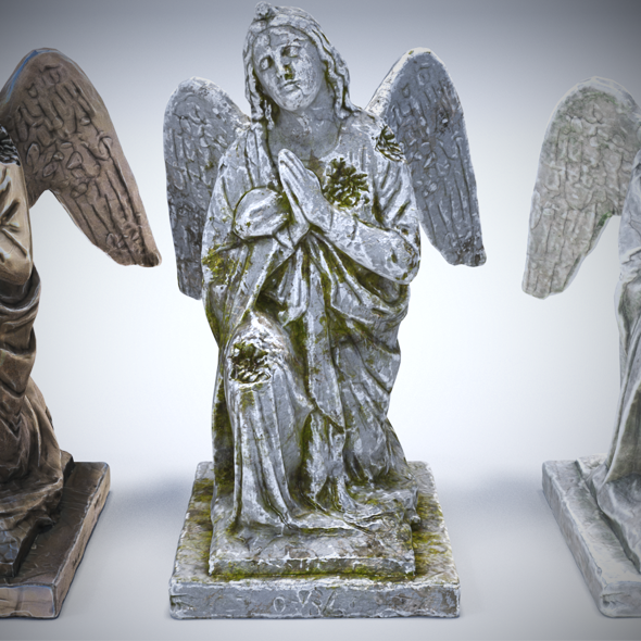 3DOcean Sculptures Pack Vol.1 Statue 1 20573785