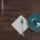 A Green Plate Moves on the Table with Cutlery - VideoHive Item for Sale