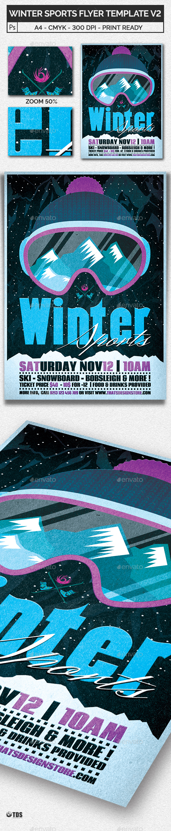 Winter Sports Flyer Template V2 - Sports Events
