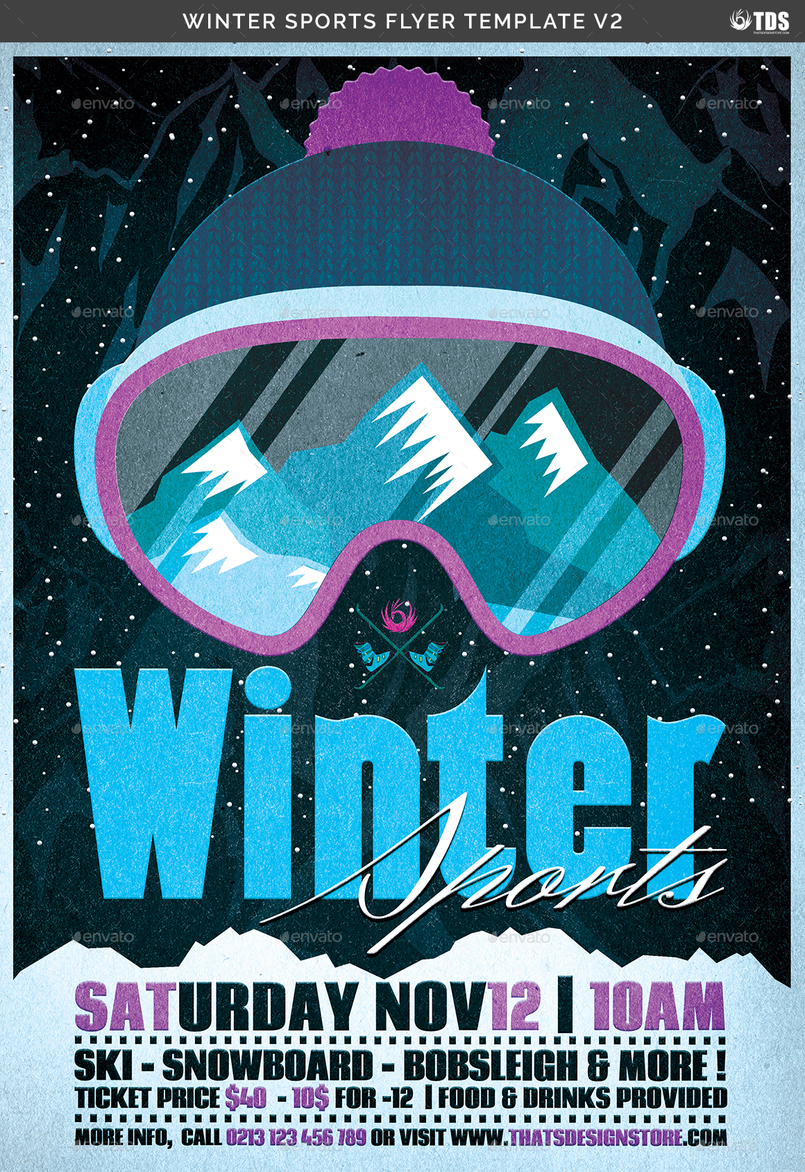 winter sports flyer template v2 by lou606 graphicriver