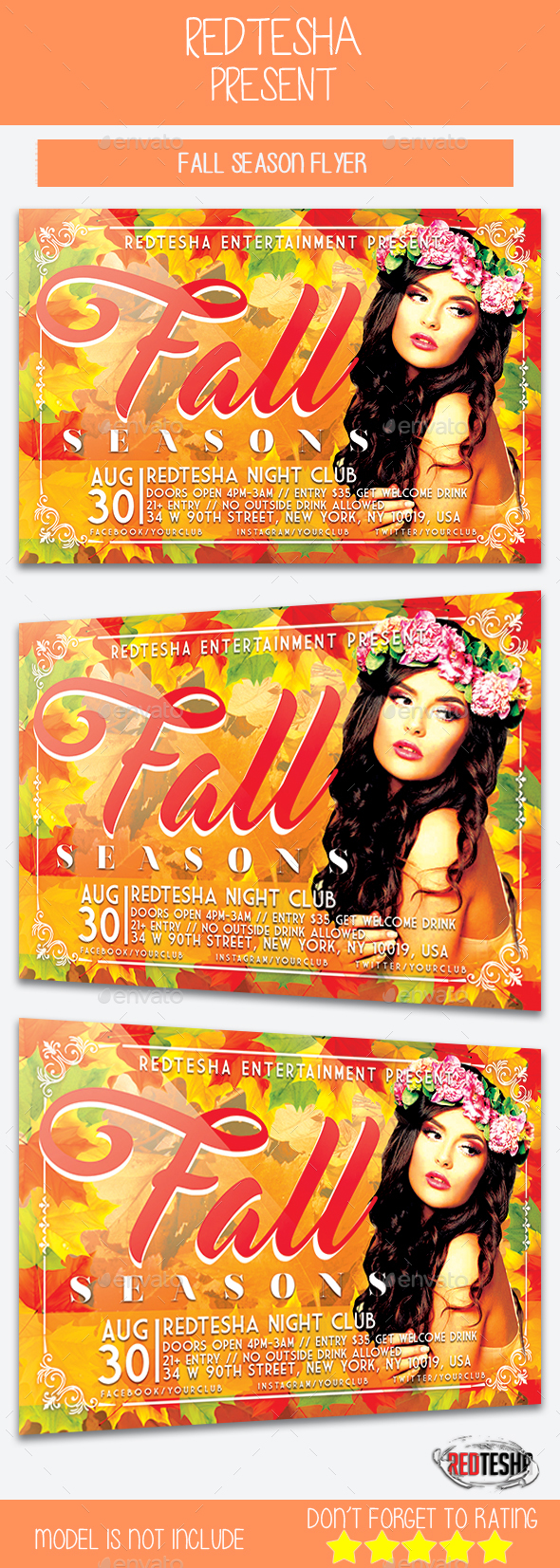 Fall Season Flyer - Events Flyers