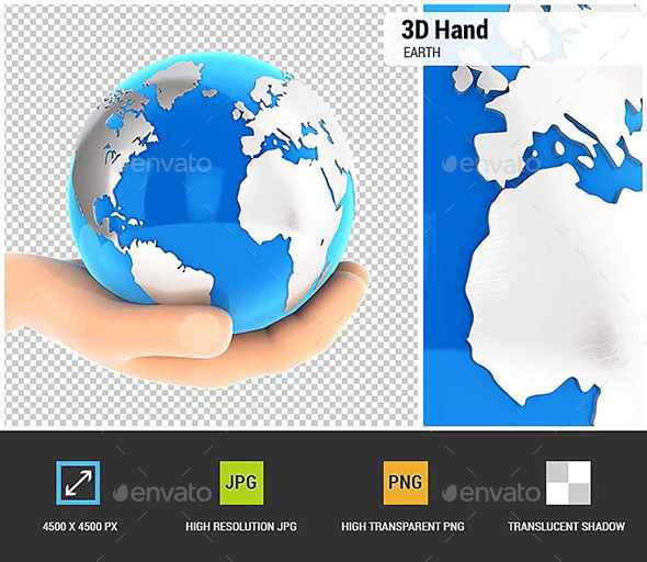 GraphicRiver 3D Hand Holding Earth 20574107