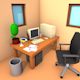 Low Poly Office Room