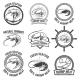 Set of the Shrimps Meat Labels