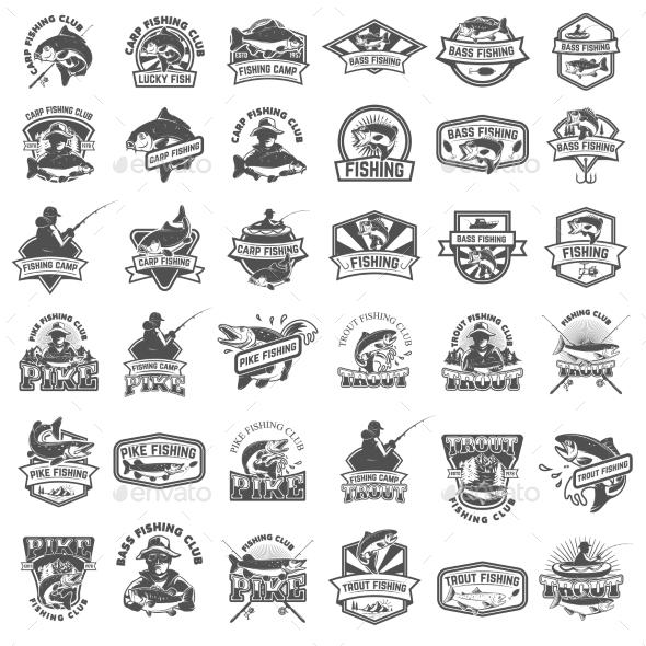GraphicRiver Big Set of Fishing Icons 20574231