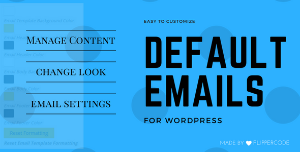 Customize Default Emails for WordPress - CodeCanyon Item for Sale
