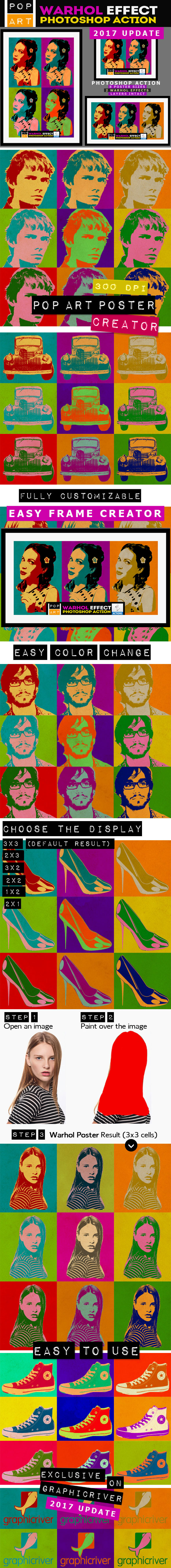 Pop Art Poster Maker - Warhol Effect - Photo Effects Actions