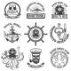 Set of Scuba Diving Club Emblems. Design Elements