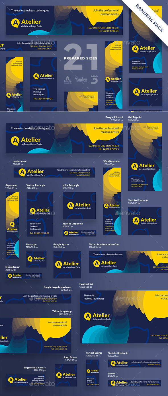 GraphicRiver Atelier Banner Pack 20574401