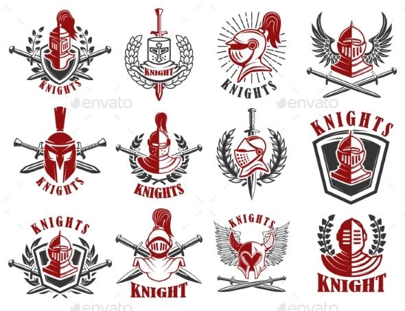 Set of Knight Emblems.  - Miscellaneous Vectors