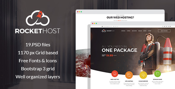 RocketHost - Web Hosting PSD Template