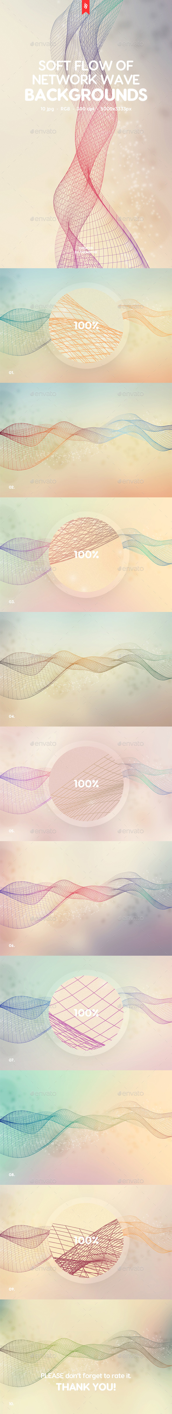 Soft Flow of Network Wave Backgrounds - Abstract Backgrounds