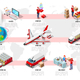 Logistic Infographic Trade Network Vector - GraphicRiver Item for Sale