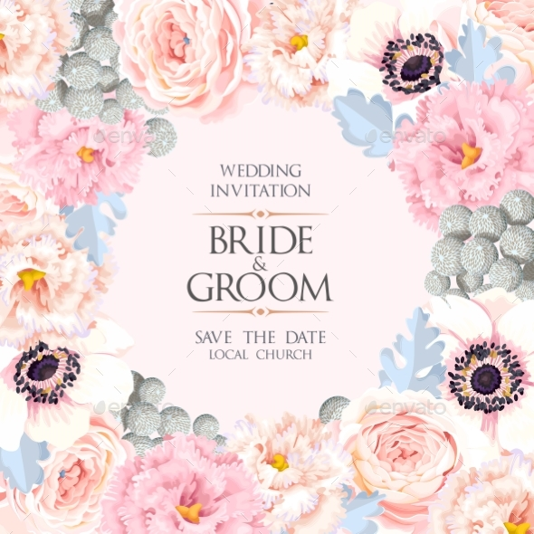 Vintage Wedding Invitation - Miscellaneous Vectors