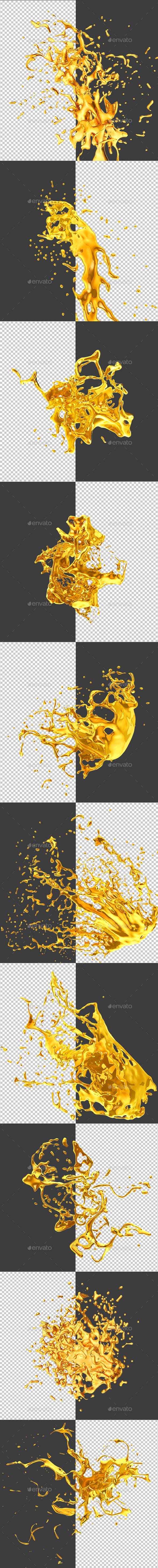 GraphicRiver Golden Spray 20574740