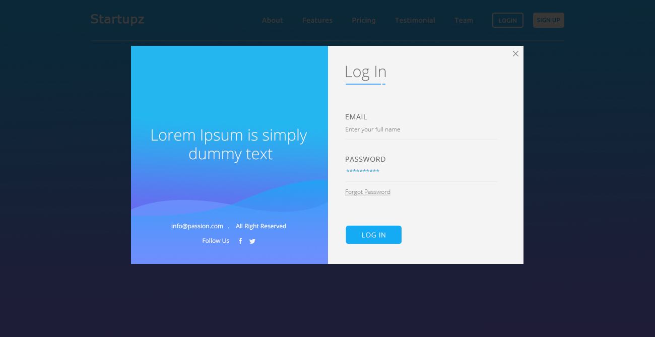 Startupz One Page Psd Template By Thinkingcoder Themeforest