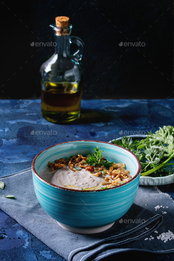 Mushroom cream soup - Stock Photo - Images