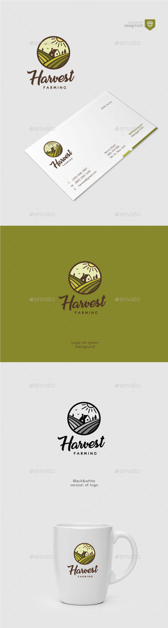 GraphicRiver Harvest Farming Logo 20574871