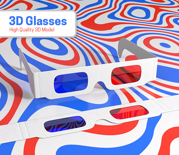 3D Glasses - 3DOcean Item for Sale
