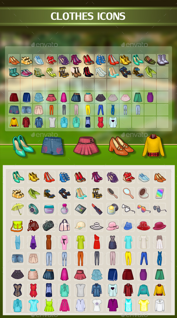 Clothes Icons - Miscellaneous Game Assets