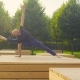 A Man Doing Yoga Exercises in the Park - VideoHive Item for Sale