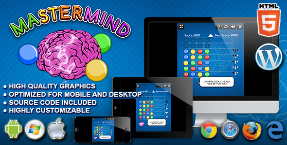 Mastermind - HTML5 Logic Game - CodeCanyon Item for Sale