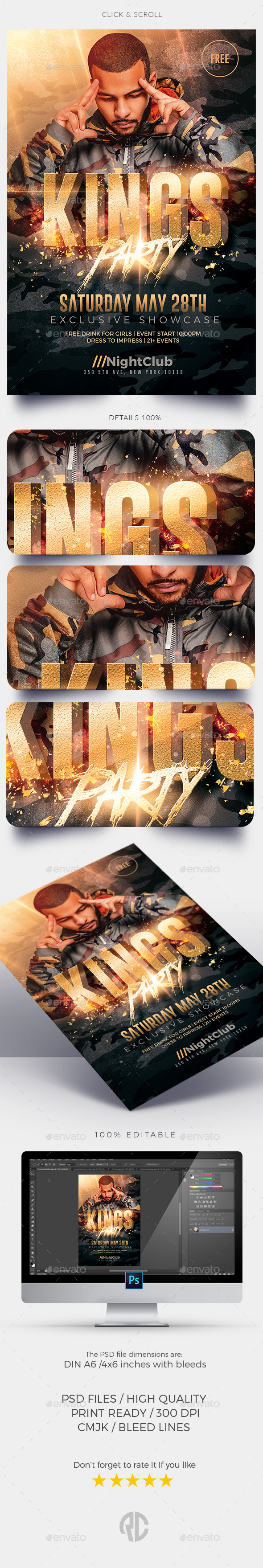 King's Party | Flyer Template - Events Flyers