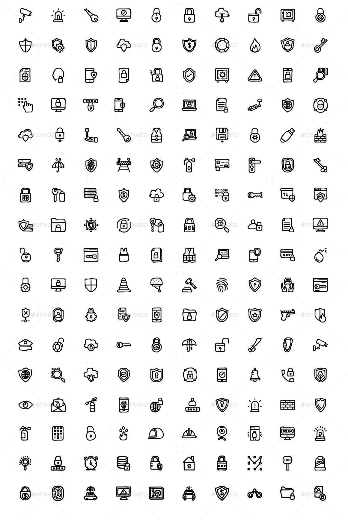 150+ Security Hand Drawn