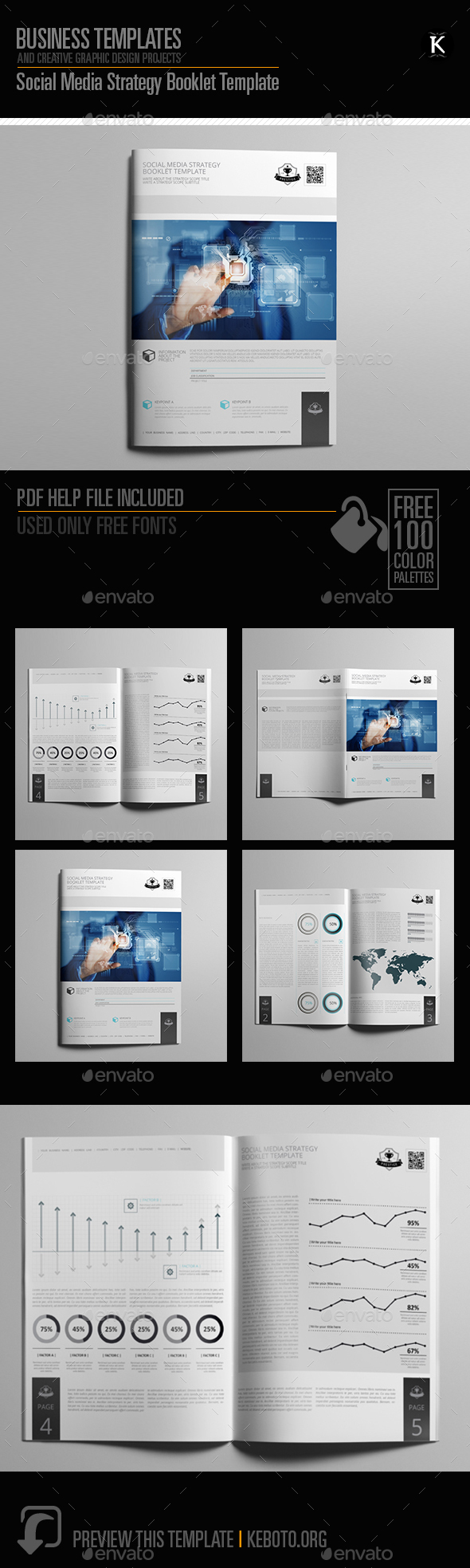 GraphicRiver Social Media Strategy Booklet Template 20556225