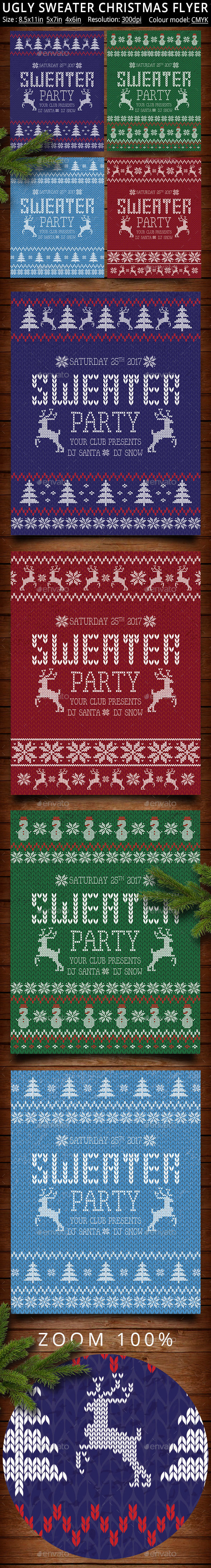Ugly Sweater Christmas Party Poster - Clubs & Parties Events