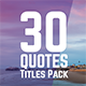 Quotes Titles - VideoHive Item for Sale