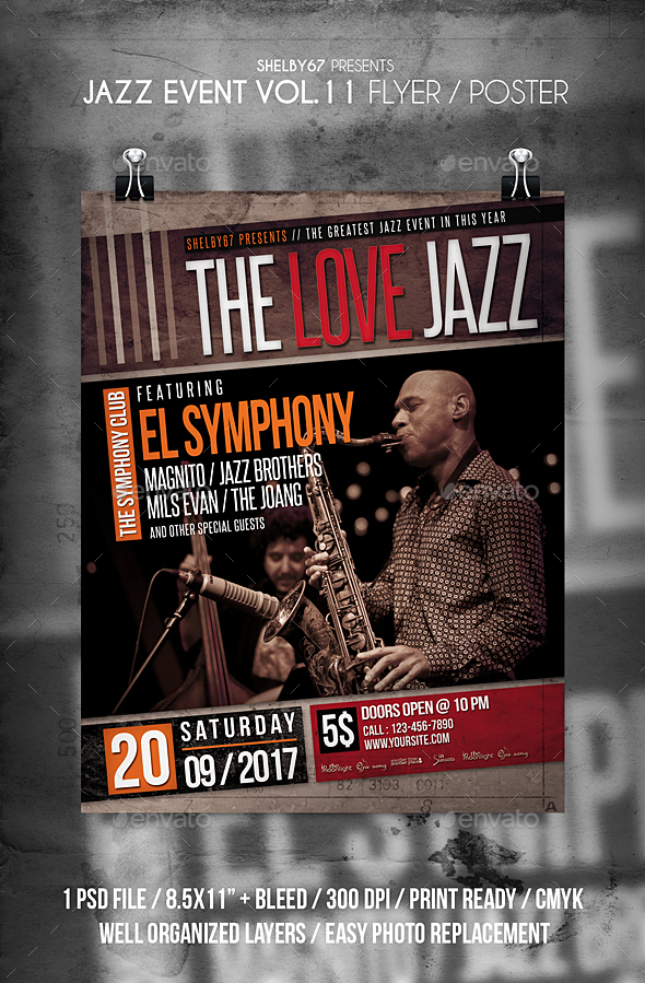 Jazz Event Flyer / Poster Vol 11 - Events Flyers