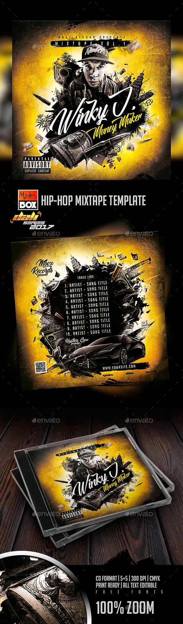 GraphicRiver Hip-Hop Mixtape Template 20576892