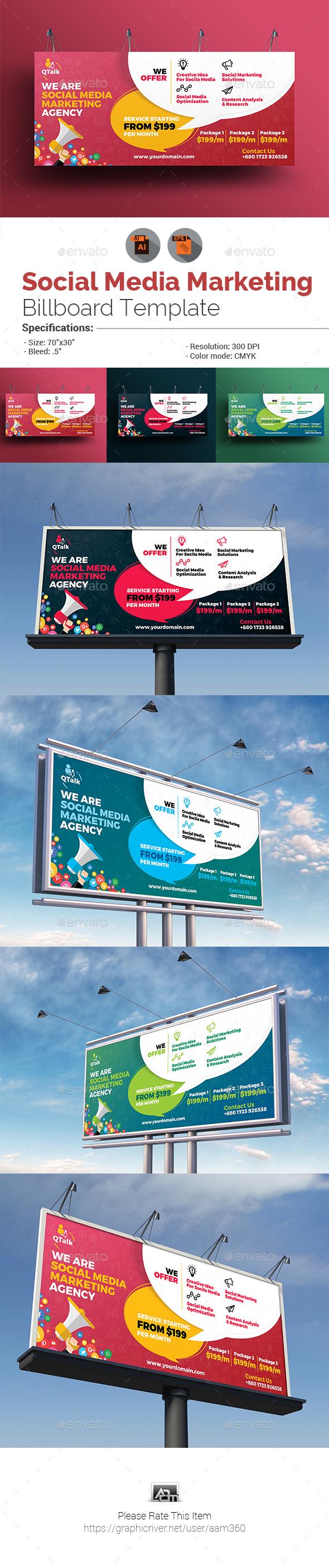 GraphicRiver Social Media Marketing Billboard 20576974