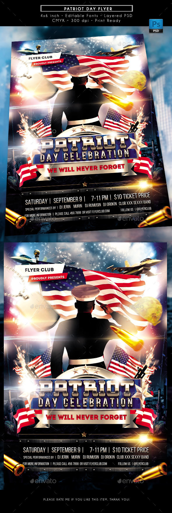 GraphicRiver Patriot Day Events Flyer 20577342