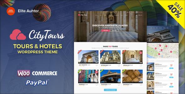 CityTours - Hotel & Tour Booking WordPress Theme - Travel Retail