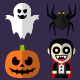 Halloween Flat Icons - GraphicRiver Item for Sale