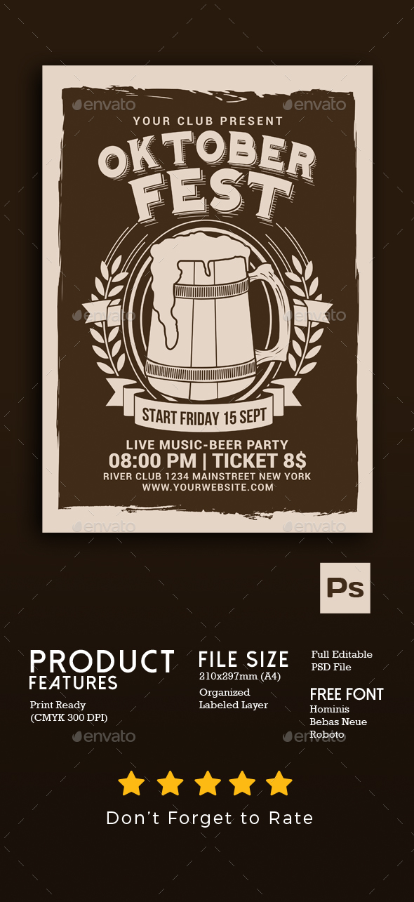 GraphicRiver Oktober Fest Flyer 20577501