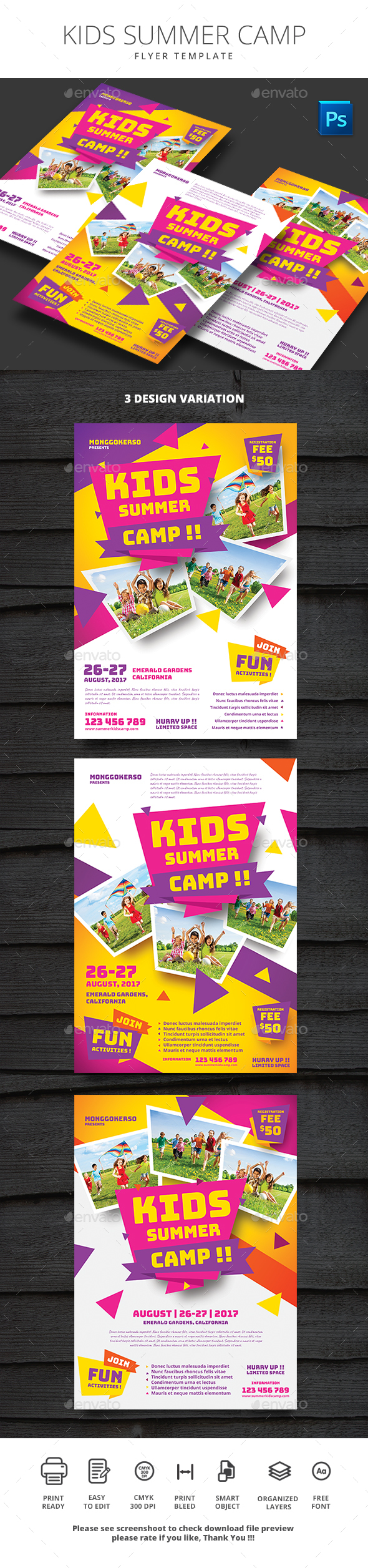 Kids Summer Camp - Events Flyers