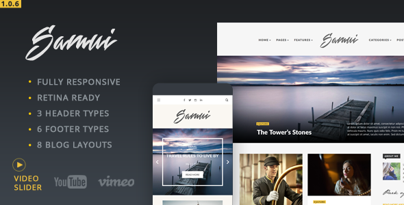 Samui - Responsive WordPress Blog Theme