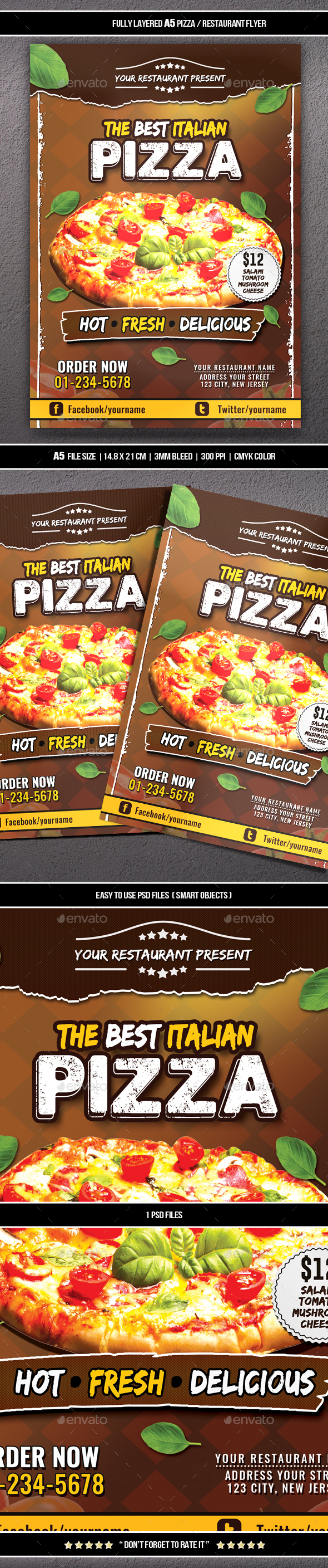 Pizza / Restaurant Flyer (A5)