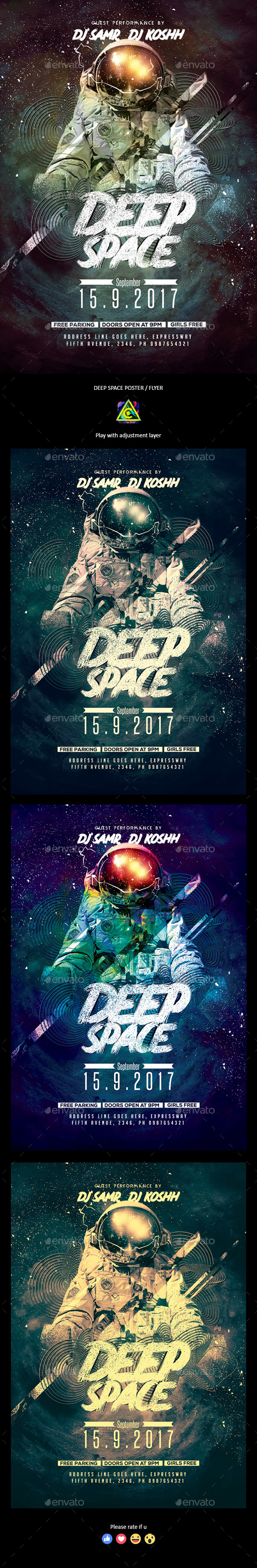 GraphicRiver Deep Space Poster Flyer 20577829