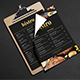 Simple Black & Gold Food Menu - GraphicRiver Item for Sale