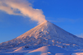Active Volcano of Kamchatka: Eruption Klyuchevskoy Volcano at Sunrise - PhotoDune Item for Sale
