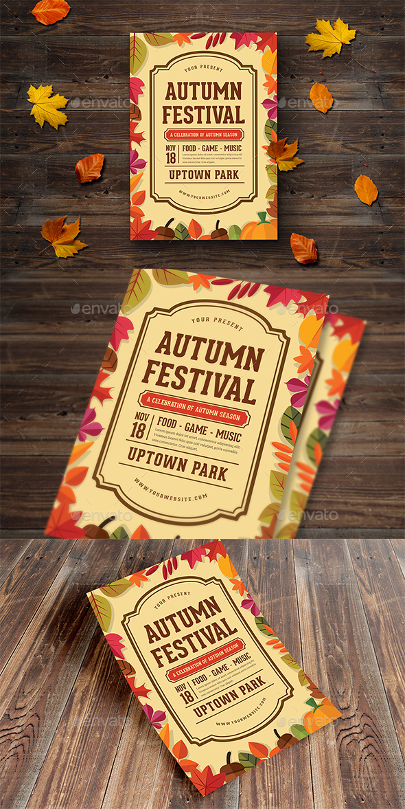 Autumn Festival Flyer - Events Flyers
