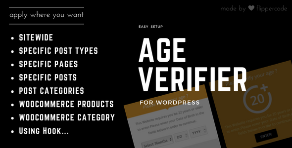 Age Verification System for WordPress - CodeCanyon Item for Sale
