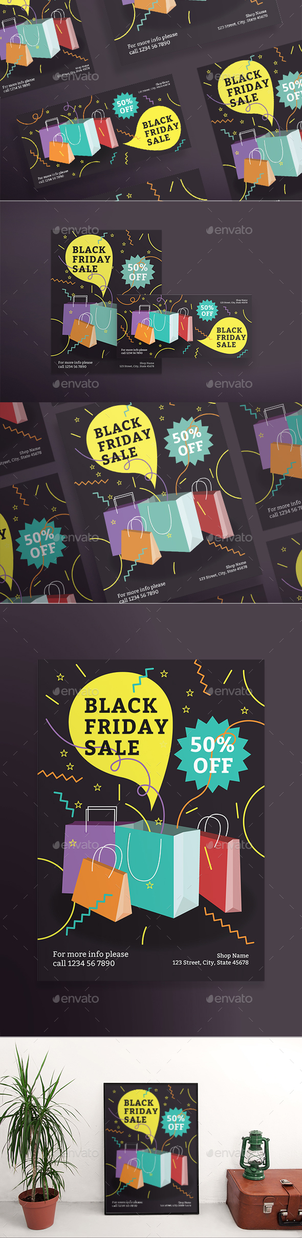 Black Friday Party Flyers - Holidays Events