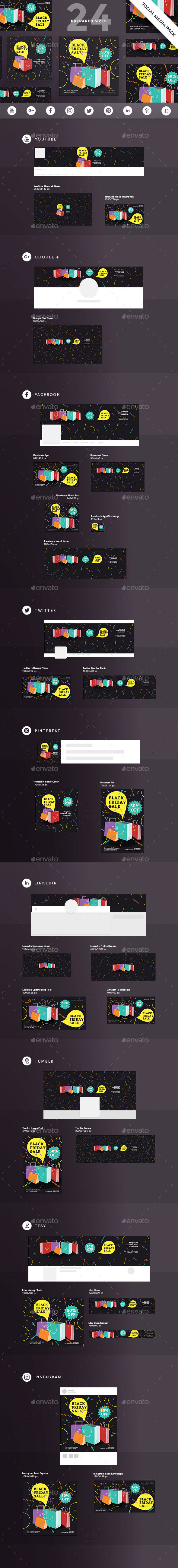 GraphicRiver Black Friday Social Media Pack 20577956