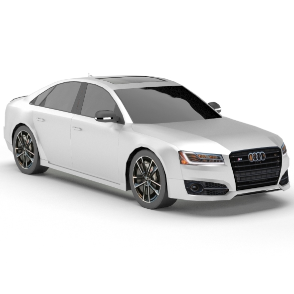 Audi S8 Plus (low poly) - 3DOcean Item for Sale