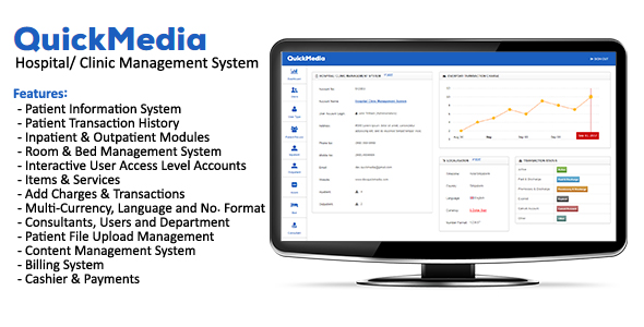 QuickMedia - Hospital/Clinic Management System - CodeCanyon Item for Sale